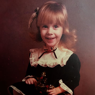 Suzanne as a child